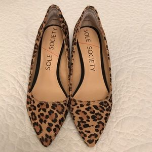 Beautiful Sole Society Leopard Wedges